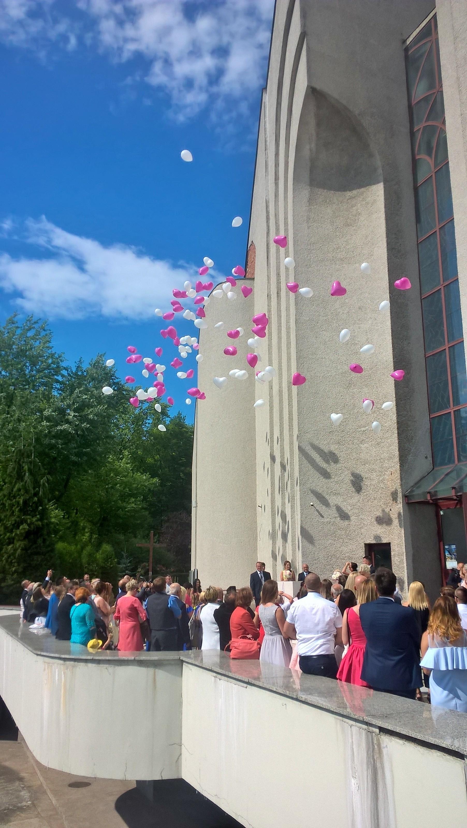Różowe balony w Krakowie
